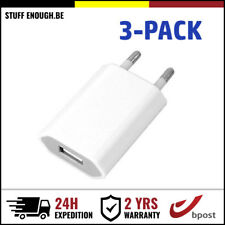 3-PACK IPHONE USB LADER MURAL CHARGEUR PRISE ADAPTER WALL CHARGING PLUG CHARGER