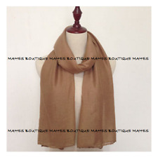 100% Cotton Plain Wrap Shawl Stole Scarf Many Colours Available Pashmina