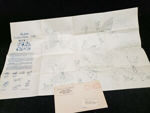 Vintage ORIGINAL Mail Order Transfer Embroidery Pattern Sunbonnet Sue Girl 1940s
