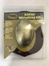 moultrie feeders Antler Mounting Kit NIB antiqued engravable brass skull plate