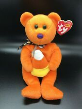 "New! Ty Beanie Babies Baby Treator Halloween Candy Corn Teddy Bear 8"" Plush Gift"