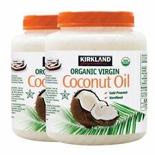 2x Kirkland Signature Organic Virgin Coconut Oil 2.48l Cold Pressed Unrefined