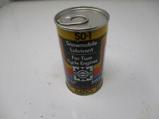Vintage Bombardier Snowmobile Lubricant Oil Can Tin 12oz FULL