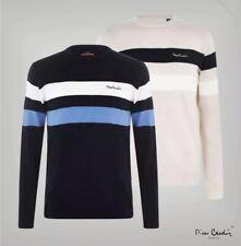 Pierre Cardin Mens Round Neck Jumper Smart Knitted Sweater Pullover Work (BR169)
