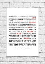 The Script - The Man Who Can't Be Moved - Song Lyric Art Poster - A4 Size