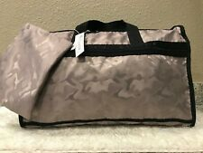 LeSportsac Candace Classic Weekender  Linen Camo Duffel Bag MSRP $125
