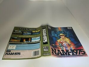 OFFICIAL SNK NEO GEO AES NAM 1975  PAPER INSERT ONLY (NO GAME ,BOX ,MANUAL) A28