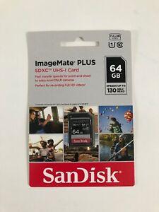 SanDisk 64GB ImageMate Plus SDXC UHS-1 Memory Card - 130MB/s NEW!!