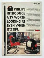 Rare Vintage Original 90's Magazine Advert Picture Ad 1991 Philips Discoverer TV