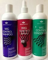 Wig Control Shampoo, Conditioner and Spray for Human And Synthetic Wig hair care