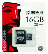 16GB Kingston MICRO SDHC MEMORY CARD WITH SD ADAPTER TF HC MICROSD