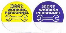 U2 Zooropa '93 Backstage Pass Set