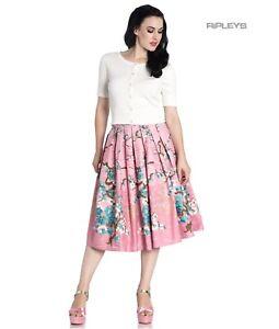 Hell Bunny 50s Skirt Vintage Pastel Pink JENNA Glitter Cherry Blossom All Sizes