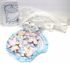 NEW VINTAGE HOUSE OF HATTEN PLUSH WIND-UP MUSICAL CRIB MOBILE
