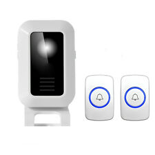 32 Chimes Songs Wireless Doorbell Remote Control 1 Receiver 2 Button Door bell