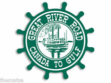 """GREAT RIVER ROAD CANADA TO GULF 4"""" TOOLBOX HELMET CAR DECAL STICKER USA MADE"""