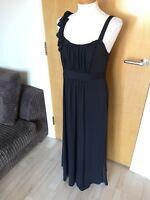 Ladies PER UNA Dress Size 12 Black Long Maxi Stretch Party Evening Smart
