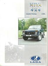 Catalogue brochure Katalog Prospekt LADA NIVA GPL INJECTION Année 1999 4 Pages