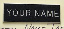 PLASTIC BLACK ENGRAVED NAME TAG FOR US ARMY DRESS UNIFORM