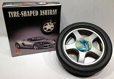 Rubber Car Tire Tread Ashtray w/ Removeable Metal Rim - NEW! Great Gift! LARGE!!