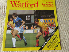 WATFORD V WEST BROMWICH, 11TH SEPTEMBER 1982