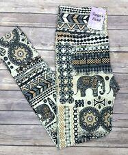 PLUS Size Tribal Elephant Leggings India Tribal Printed YOGA Waist Curvy 10-18