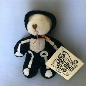 Halloween Ganz Wee Bear Village Mr Bones 6 inch pluch with tags