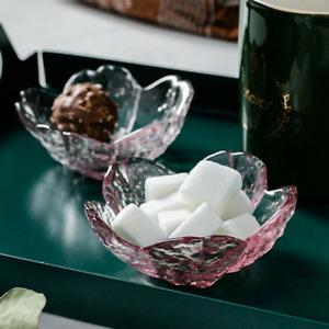 Glass Sakura Flower Dish Soy Sauce Dish Fruit Desserts Pink Bowl Cutlery Plate