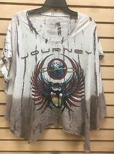 TRUNK LTD Journey  White Gradient Shirt Runs Long sz L  bagge run huge