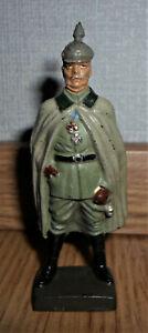 vintage prewar Lineol standing german leader figure Erich von Ludendorff WWII