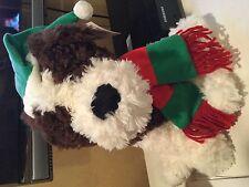 Dog stuffed toy Christmas theme new w tags