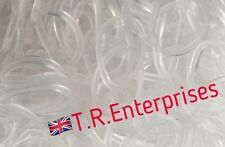 CLEAR JELLY LOOM BANDS pack 300 / 24 clips / hook Limited stock available