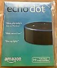 Amazon Echo Dot in Black (2nd Generation) - Brand New Factory Sealed