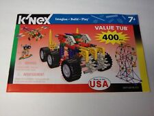 Knex Instruction Manual Only #12077/3253 400-Piece Value Tub Instructions Book
