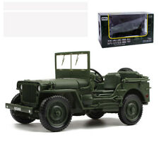 1:18 Jeep Military Vehicle Diecast Car Model Toys Willys Miniature Replica Toy