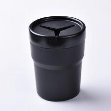Car SUV Pen Holder Coin Tool Box Mount Trash Rubbish Bin Holders Cup Candy Black