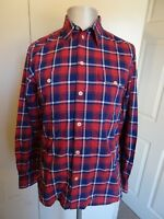 Mens Albam Red Checked Casual Long Sleeved Shirt VGC - Size Medium