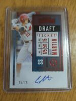 Casey Martin 2020 Contenders Draft Ticket Red RC Rookie Auto 25/75 Arkansas