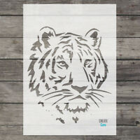 Tiger Head STENCIL Wall Art Interior Decor Animal Template Airbrush Create Cuts