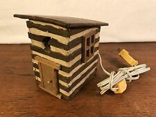 """Handcrafted Wood Outhouse Night Light Tabletop Lamp 5"""" (HD0)"""
