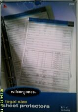 One New Wilson Jones Clear One Per Page Legal Size Sheet Protector For Documents