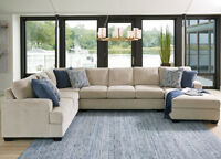Lincoln Fabric Modular U-Shaped Lounge Suite with Chaise