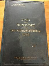 1896 Antique Diary Directory Auctioneers Ledger Book Advertising HandWritten Ads