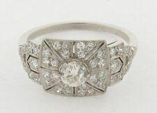 Antique Art Deco Circa 1920 Diamonds & Platinum Ring