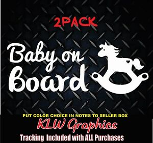 Rocking Horse Baby on Board Monitor Decal Sticker Cowboy Birthday Mother