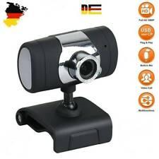 Webcam Cam  HD Kamera USB 2.0 Mit Mikrofon für Computer PC Laptop Notebook DE