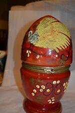 Ant LIQUOR SET RARE Fitted Czech Egg Shape Salt Glaze Design Collectible #52517H