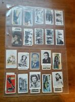 Lot of 30 mixed tobacco cigarette cards royal princesses cars tank glamis castle