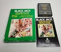Blackjack Black Jack For Atari 2600 VCS Complete Game Cartridge Manual & Box