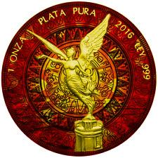 1 Oz Silber Ounce Libertad Plata Pura passionierte Coloration & 24K Gold Selten!